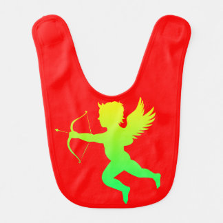 Green Yellow Boy Angel Red Baby Bib