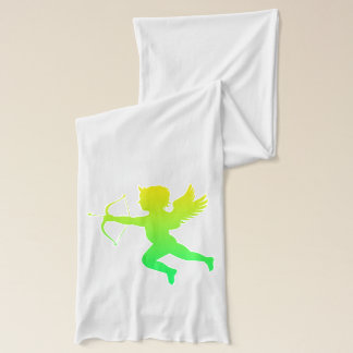 Green Yellow Boy Angel White Jersey Scarf