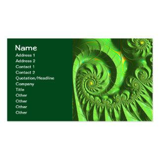 Green Yellow Brago-Mitchell Fine Fractal Art Pack Of Standard Business Cards