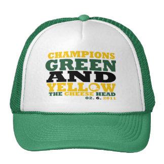Green & Yellow (Cheese head) Trucker Hats