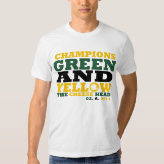 Green & Yellow (Cheese head) T-shirt