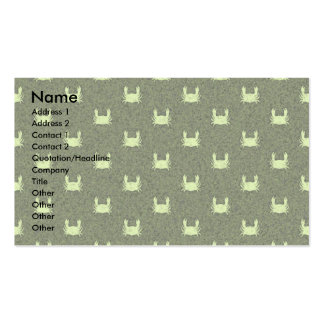 Green Yellow Crab Pattern Pack Of Standard Business Cards