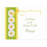 Green Yellow Daisy Recipe Card for the Bride
