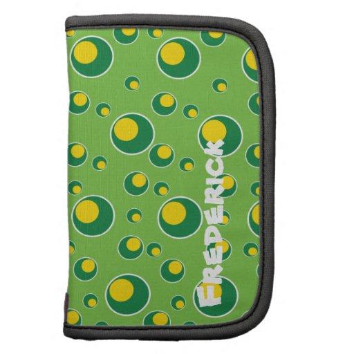 Green Yellow Dots Pattern Custom Planner Design