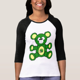 Green/Yellow Football Bear Tee Shirt