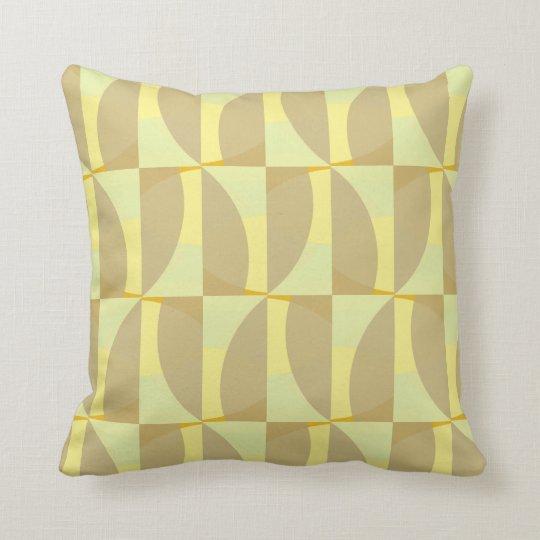 Green & Yellow Geometric Pattern Accent Pillow