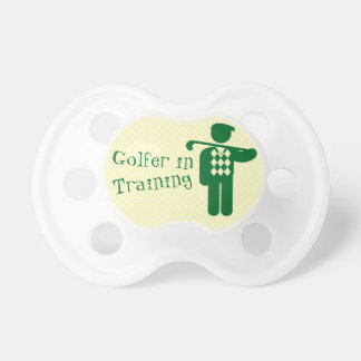 Green Yellow Golfer in Training Baby Pacifier