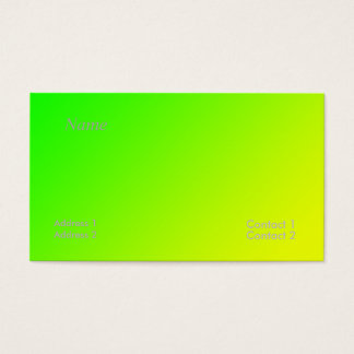 green yellow gradient business card
