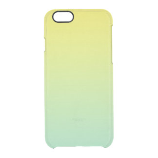 Green & Yellow Ombre Clear iPhone 6/6S Case