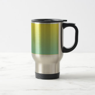 Green & Yellow Ombre 15 Oz Stainless Steel Travel Mug