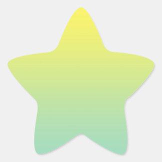 Green & Yellow Ombre Star Sticker
