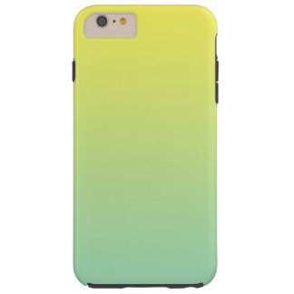 Green & Yellow Ombre Tough iPhone 6 Plus Case
