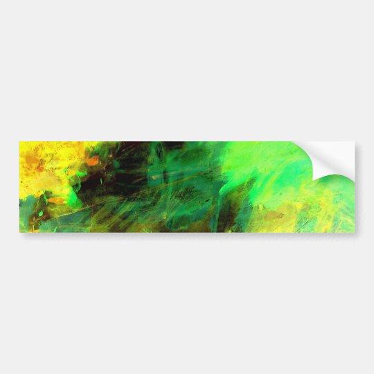 Green Yellow Original Abstract Bumper Sticker