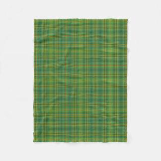 Green & Yellow Plaid Fleece Blanket