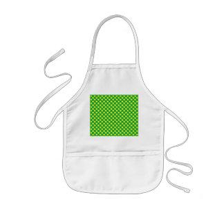Green yellow polka dots kids' apron