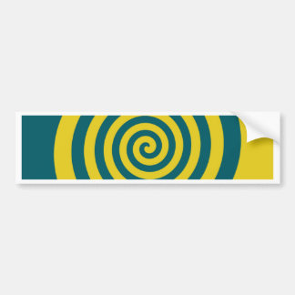 Green yellow spiral bumper sticker