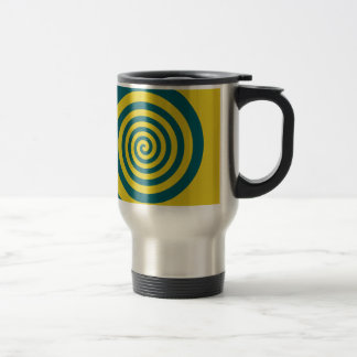 Green yellow spiral coffee mug