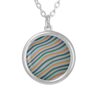 Green & Yellow Stripey Pendant