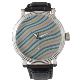 Green & Yellow Stripey Watch