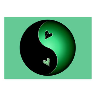green yin yang pack of chubby business cards