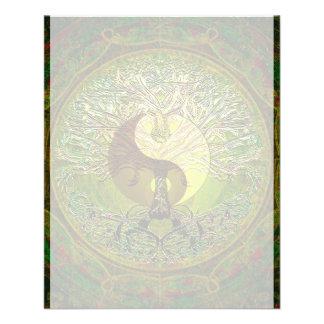 Green Yin Yang Mandala with Tree of Life 11.5 Cm X 14 Cm Flyer