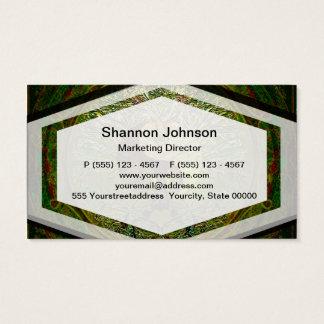 Green Yin Yang Mandala with Tree of Life Business Card
