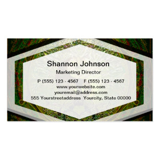 Green Yin Yang Mandala with Tree of Life Pack Of Standard Business Cards