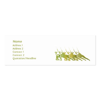 Green Yoga - Skinny Business Card Templates