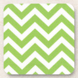 Green Zaggy Cork Coasters