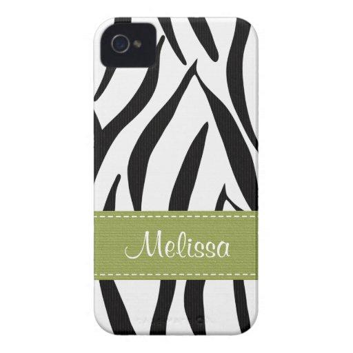 Green Zebra Blackberry Bold Case Cover