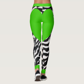 Green Zebra Leggings