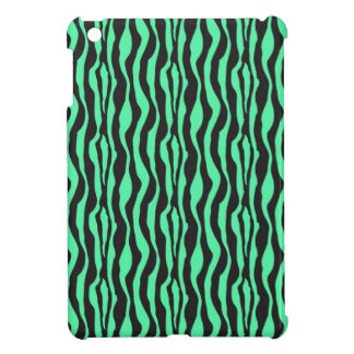 Green Zebra Stripe Print iPad Mini Cover