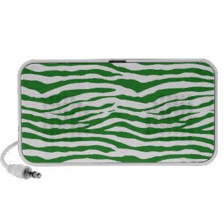 Green Zebra Stripes iPhone Speakers