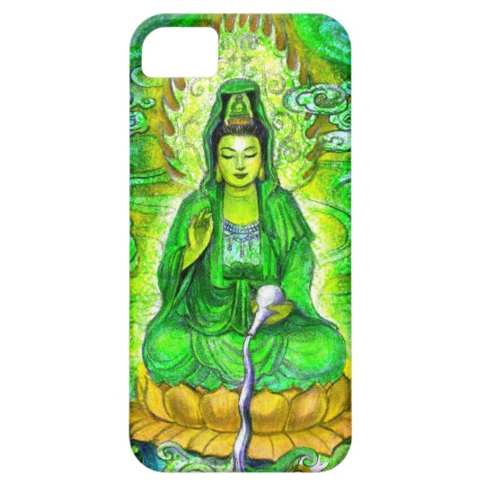 Green Zen Buddhist Goddess Kuan Yin iPhone 5 Case
