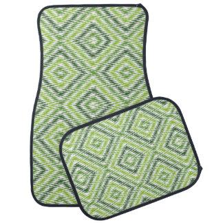Green Zig Zag Car Mat