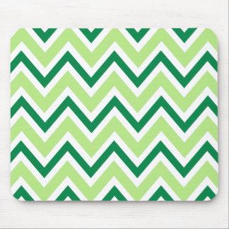 Green zigzag chevron pattern mousepad
