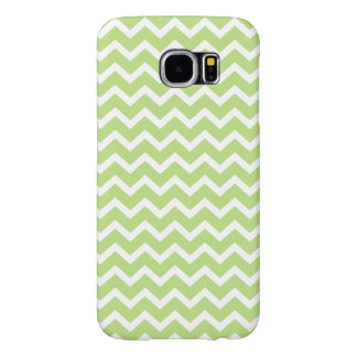 Green ZigZag Chevrons Pattern Samsung Galaxy S6 Cases