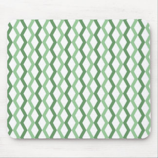Green Zigzag Lines Mousepad