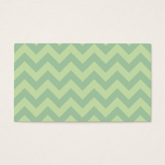 Green ZIgZag pattern Business Card