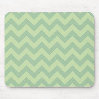 Green ZigZag pattern Mousepads