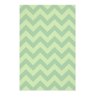 Green ZigZag pattern Personalised Stationery