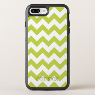 Green Zigzag Stripes Chevron Pattern OtterBox Symmetry iPhone 8 Plus/7 Plus Case