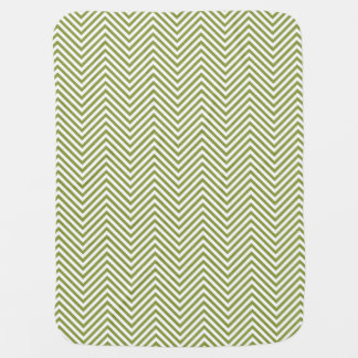Green Zigzags in 2-Tone Reversible - Baby Blanket