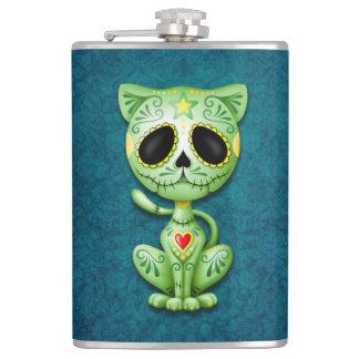 Green Zombie Sugar Kitten Hip Flask