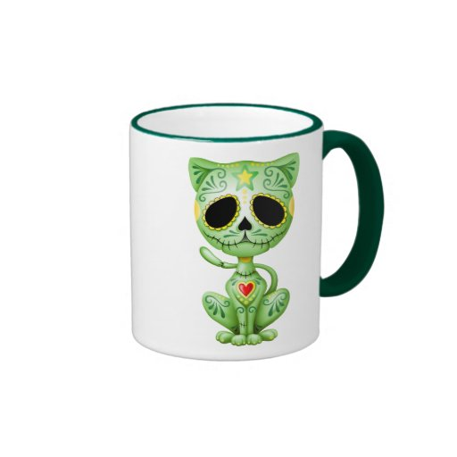 Green Zombie Sugar Kitten Mugs