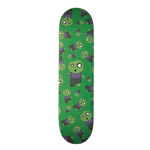 Green zombies skate boards
