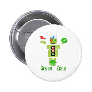 GREEN Zone Energy Efficient Only 6 Cm Round Badge