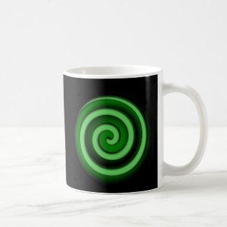 Green Zone Spiral Hypno Mug Basic White Mug