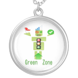 GREEN ZONE Traffice Protection Personalized Necklace