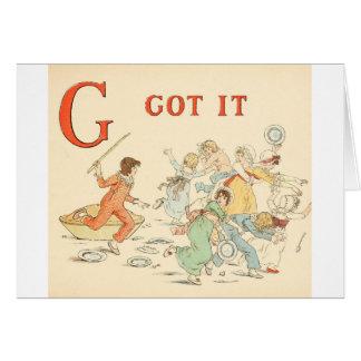 Greenaway, Kate Alphabet Nursery Rhyme - H Card